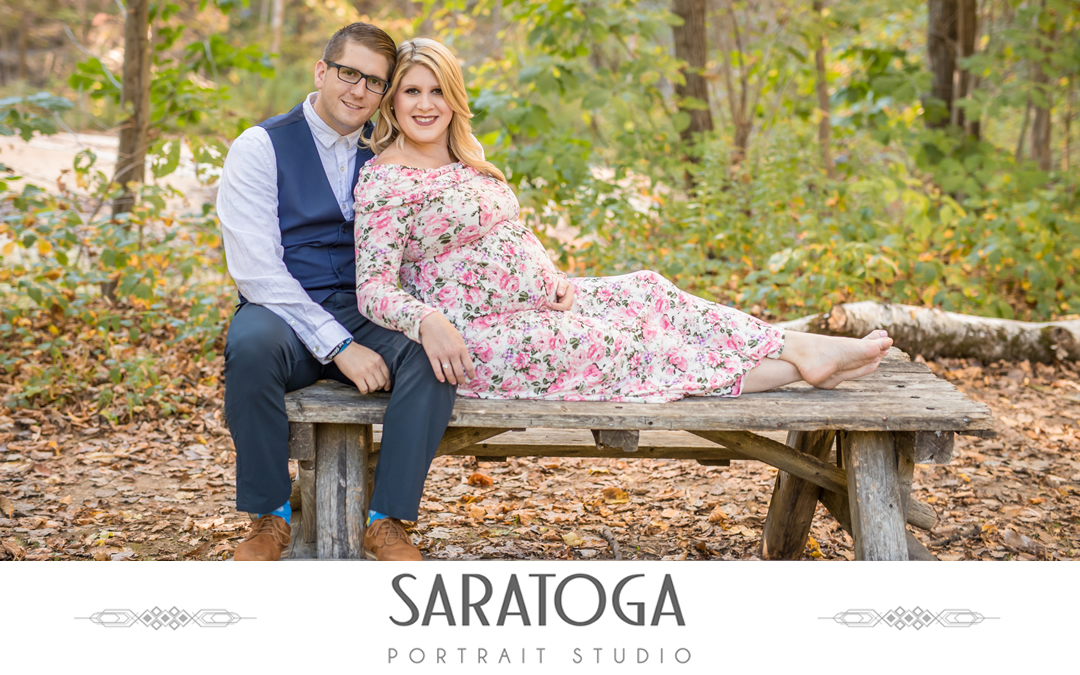 Chelsea & Keith's Spa State Park Maternity Shoot